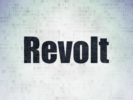 revolt: Politics concept: Painted black word Revolt on Digital Paper background Stock Photo