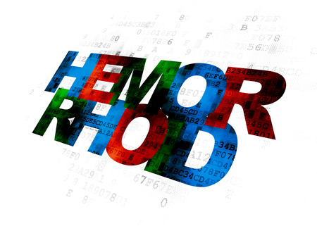 hemorrhoid: Healthcare concept: Pixelated multicolor text Hemorrhoid on Digital background