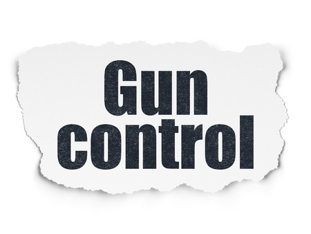 gun control: Safety concept: Painted black text Gun Control on Torn Paper background with Scheme Of Hexadecimal Code
