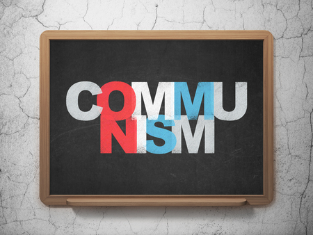communism: Politics concept: Painted multicolor text Communism on School Board background