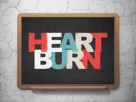 heartburn: Medicine concept: Painted multicolor text Heartburn on School Board background