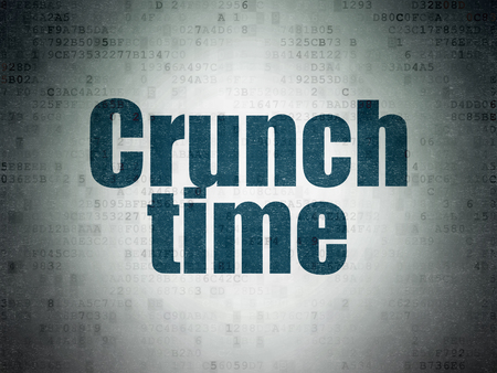 crunch: Finance concept: Painted blue word Crunch Time on Digital Paper background