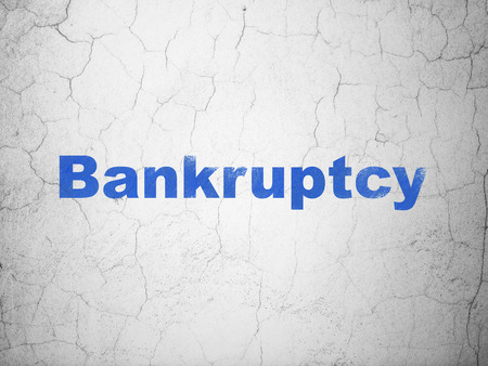 bankruptcy: Law concept: Blue Bankruptcy on textured concrete wall background