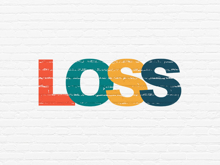 loss leader: Finance concept: Painted multicolor text Loss on White Brick wall background Stock Photo