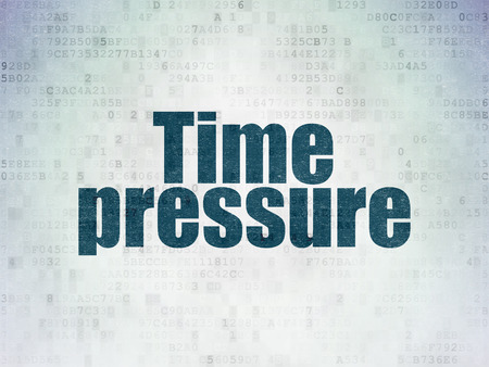 time pressure: Time concept: Painted blue word Time Pressure on Digital Paper background