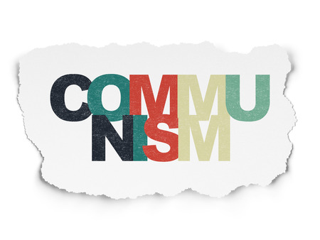 communism: Politics concept: Painted multicolor text Communism on Torn Paper background