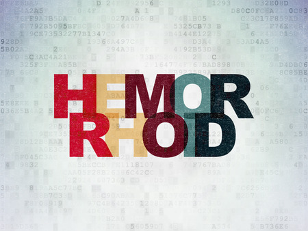 hemorrhoid: Medicine concept: Painted multicolor text Hemorrhoid on Digital Paper background