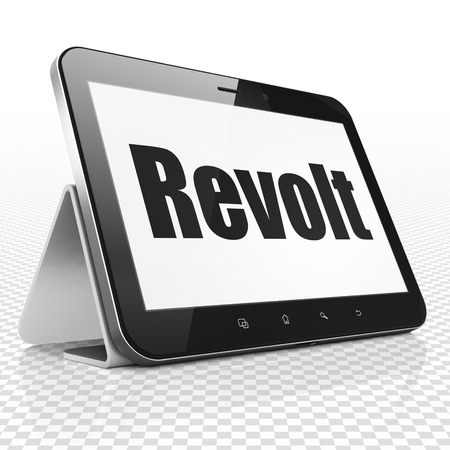 revolt: Political concept: Tablet Computer with black text Revolt on display