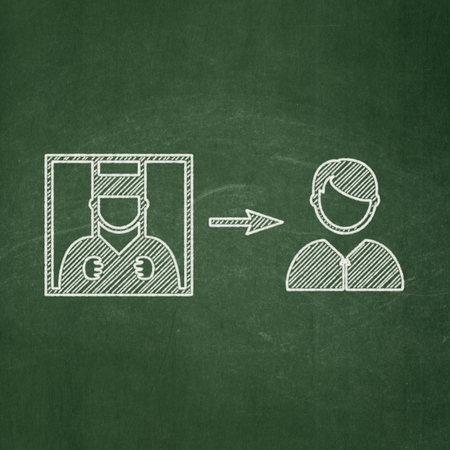 freed: Law concept: Criminal Freed icon on Green chalkboard background