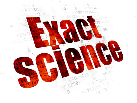 exact science: Science concept: Pixelated red text Exact Science on Digital background