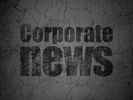 tabloid: News concept: Black Corporate News on grunge textured concrete wall background