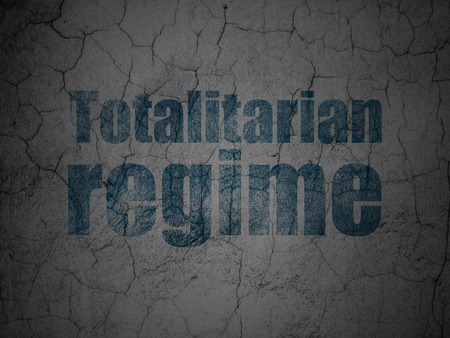 regime: Political concept: Blue Totalitarian Regime on grunge textured concrete wall background Stock Photo