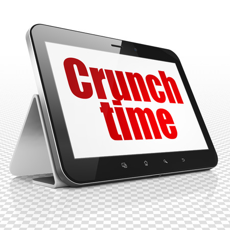 crunch: Finance concept: Tablet Computer with red text Crunch Time on display