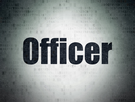 lex: Law concept: Painted black word Officer on Digital Paper background