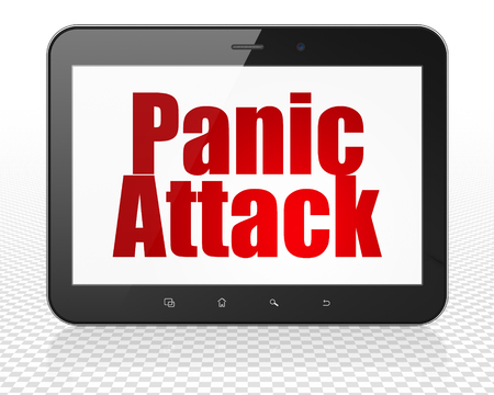 panic attack: Healthcare concept: Tablet Pc Computer with red text Panic Attack on display
