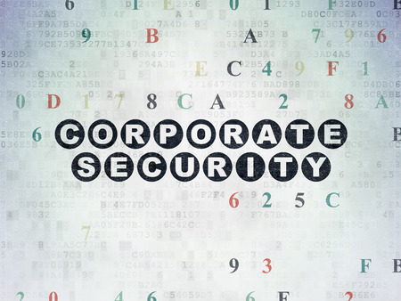 hexadecimal: Security concept: Painted black text Corporate Security on Digital Paper background with Hexadecimal Code
