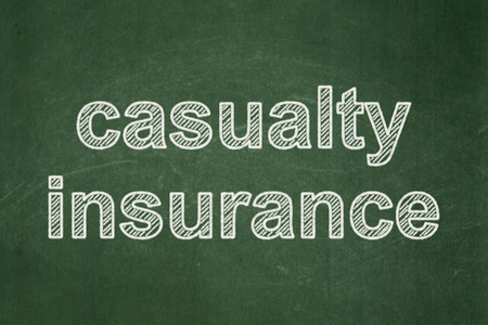 casualty: Insurance concept: text Casualty Insurance on Green chalkboard background Stock Photo