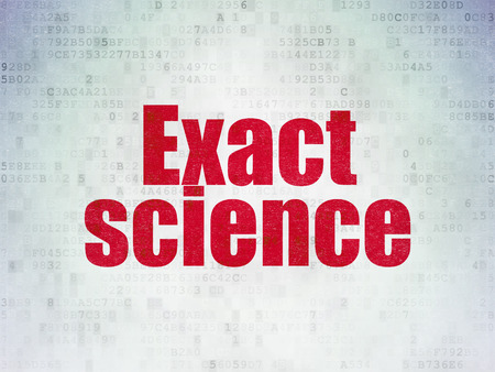 exact: Science concept: Painted red word Exact Science on Digital Paper background Stock Photo
