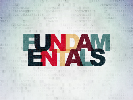 fundamentals: Science concept: Painted multicolor text Fundamentals on Digital Paper background