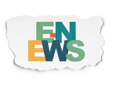 urgent announcement: News concept: Painted multicolor text E-news on Torn Paper background