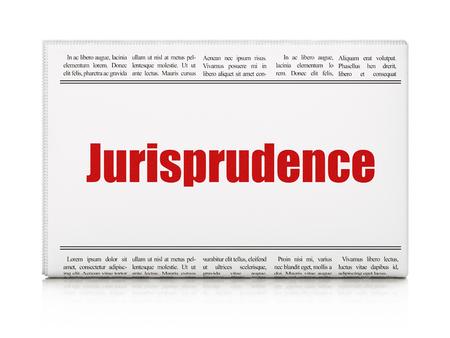 jurisprudencia: Ley concepto: Titular de peri�dico Jurisprudencia sobre fondo blanco, 3d