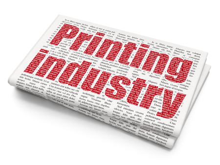 urgent announcement: Industry concept: Pixelated red text Printing Industry on Newspaper background Stock Photo