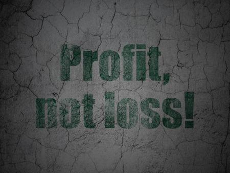 perdidas y ganancias: Concepto de las finanzas: Verde beneficio, no la p�rdida! en grunge textura de fondo muro de hormig�n