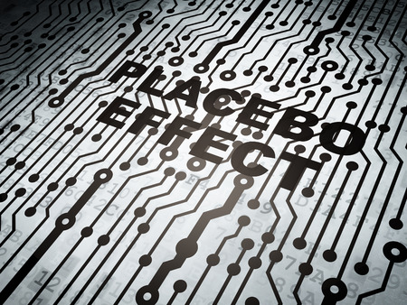 placebo: Healthcare concept: circuit board with  word Placebo Effect, 3d render Stock Photo