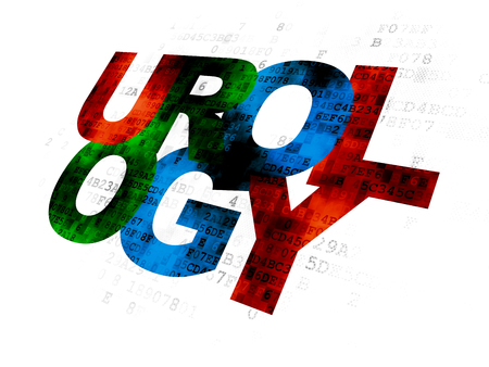 urology: Healthcare concept: Pixelated multicolor text Urology on Digital background