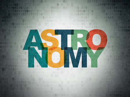 Science concept: Painted multicolor text Astronomy on Digital Paper background