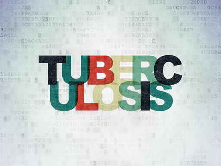Medicine concept: Painted multicolor text Tuberculosis on Digital Paper background