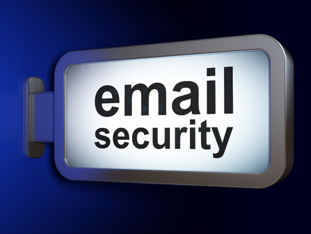 email security: Security concept: Email Security on advertising billboard background, 3d render