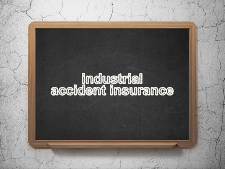 industrial accident: Insurance concept: text Industrial Accident Insurance on Black chalkboard on grunge wall background