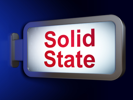 solid background: Science concept: Solid State on advertising billboard background, 3d render