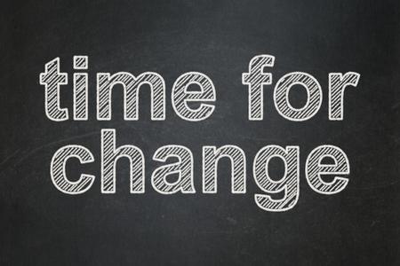 cronologia: Concepto de tiempo: Tiempo de texto para el Cambio en el fondo pizarra Negro