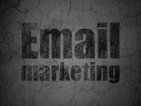 grungy email: Business concept: Black Email Marketing on grunge textured concrete wall background