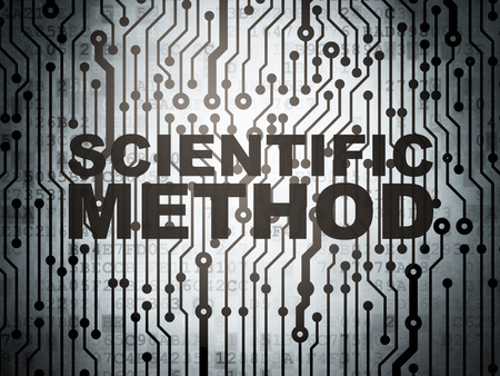 metodo cientifico: Concepto de la ciencia: la placa de circuito con la palabra M�todo Cient�fico, 3d Foto de archivo