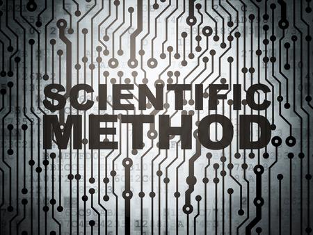 science scientific: Science concept: circuit board with  word Scientific Method, 3d render Stock Photo