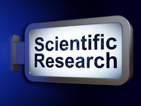 science scientific: Science concept: Scientific Research on advertising billboard background, 3D rendering