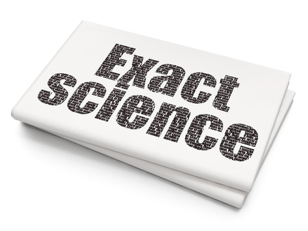 exact science: Science concept: Pixelated black text Exact Science on Blank Newspaper background, 3d rendering