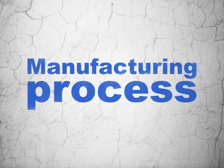 dark ages: Industry concept: Blue Manufacturing Process on textured concrete wall background