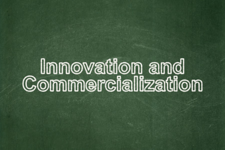 commercialization: Science concept: text Innovation And Commercialization on Green chalkboard background Stock Photo