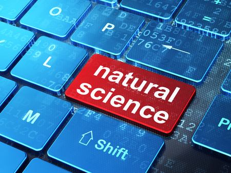 natural science: Science concept: computer keyboard with word Natural Science on enter button background, 3D rendering