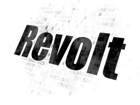 revolt: Political concept: Pixelated black text Revolt on Digital background