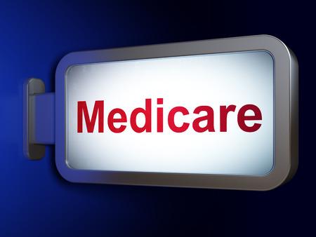 medicare: Health concept: Medicare on advertising billboard background, 3D rendering
