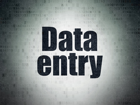 data entry: Information concept: Painted black word Data Entry on Digital Data Paper background