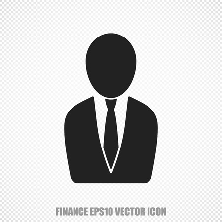 black business man: The universal icon on the finance theme: Black Business Man. Modern flat design. For mobile and web design.