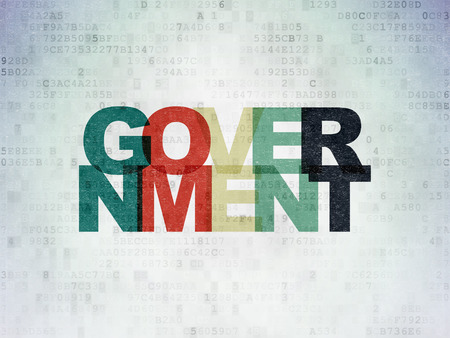 political system: Political concept: Painted multicolor text Government on Digital Data Paper background Stock Photo