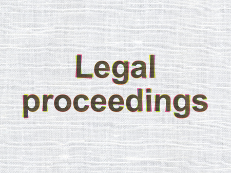 proceedings: Law concept: CMYK Legal Proceedings on linen fabric texture background