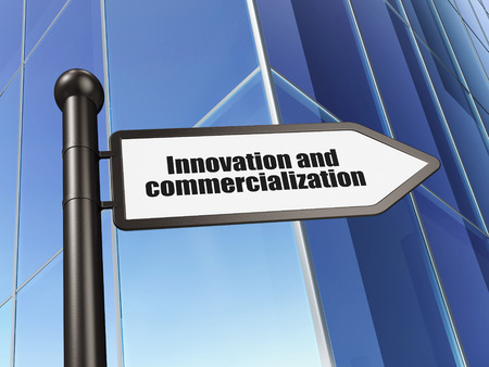 commercialization: Science concept: sign Innovation And Commercialization on Building background, 3D rendering
